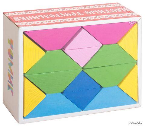"""Деревянная игрушка """"Цветные треугольники"""""""