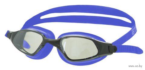 Очки для плавания (синие; зеркальные; арт. B301M) — фото, картинка