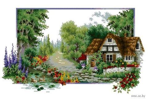 """Алмазная вышивка-мозаика """"Домик в лесу"""" (650х400 мм; арт. 7713087) — фото, картинка"""