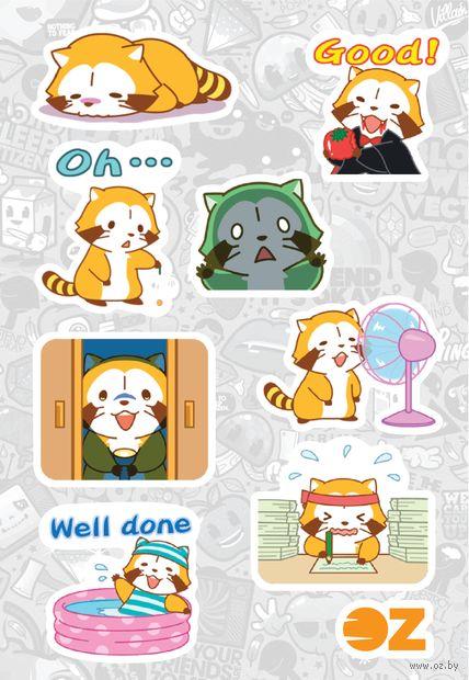 """Набор наклеек """"Красная панда"""" (А6) — фото, картинка"""