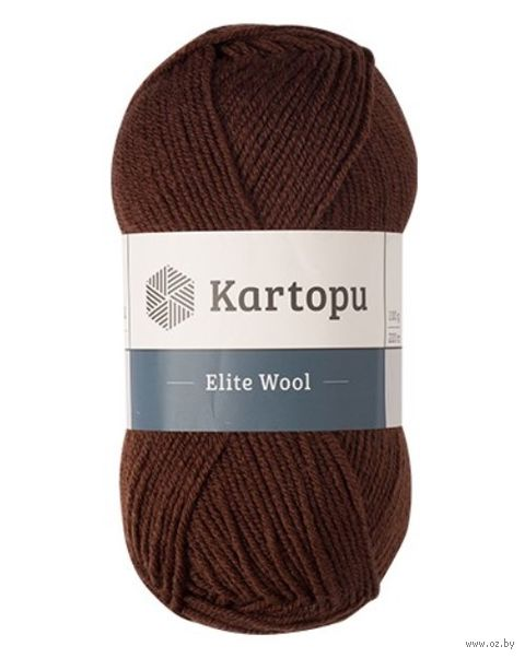 "Пряжа ""KARTOPU. Elite Wool №К890"" (100 г; 220 м; темно-коричневый) — фото, картинка"