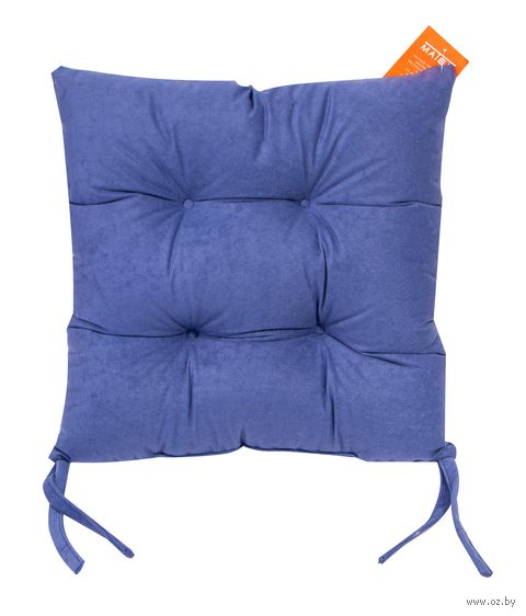 "Подушка на стул ""Velours"" (42х42 см; серо-голубая) — фото, картинка"