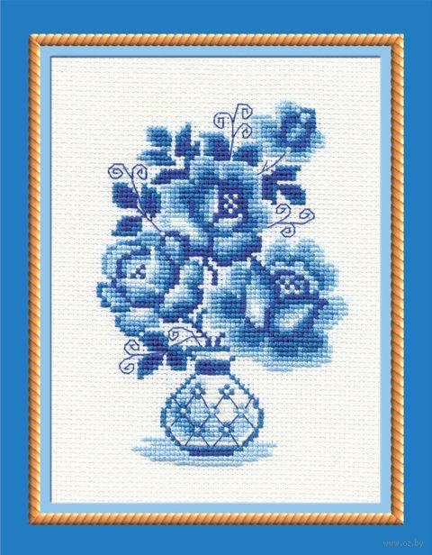 """Вышивка крестом """"Гжель. Розы"""" (арт. 839)"""