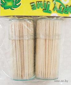 Набор зубочисток деревянных 150 шт. в пластмассовых подставках (2 шт, арт. GL047C)