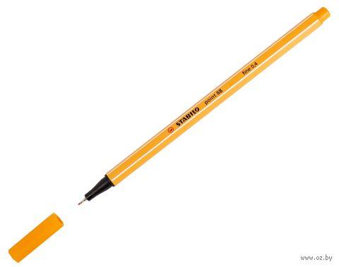 """Ручка капиллярная """"Point 88"""" (оранжевая; 0,4 мм)"""