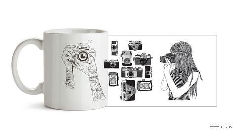 "Кружка ""Фотоаппараты"" (арт. 237) — фото, картинка"