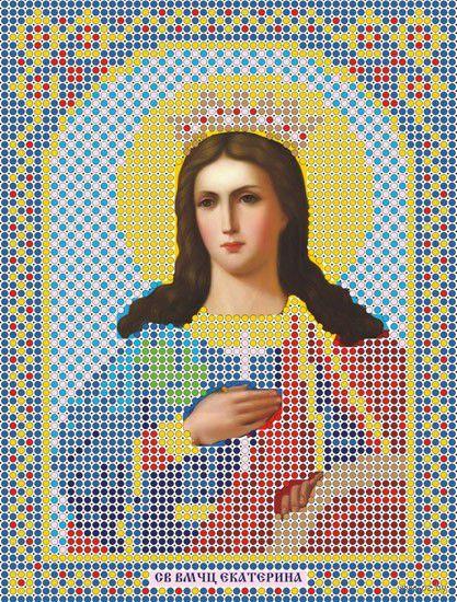 """Вышивка бисером """"Святая Великомученица Екатерина"""" (120х160 мм) — фото, картинка"""