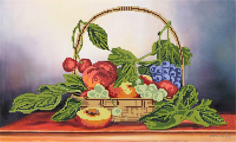 """Канва с нанесенным рисунком """"Корзина с фруктами"""""""