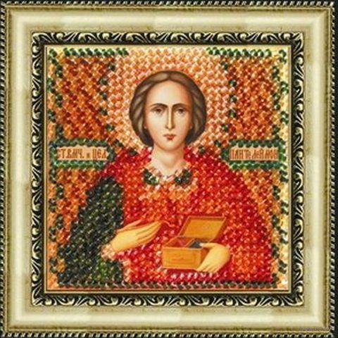 "Вышивка бисером ""Св. Целитель Пантелеймон"" (65х65 мм; арт. 022ПМИ) — фото, картинка"