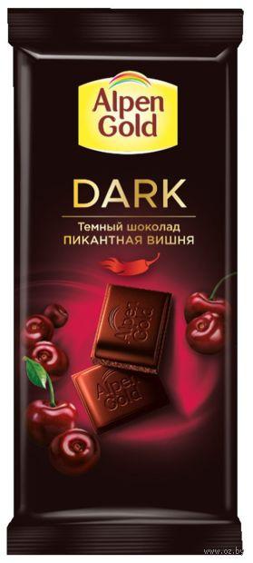 """Шоколад темный """"Alpen Gold. Пикантная вишня"""" (85 г) — фото, картинка"""