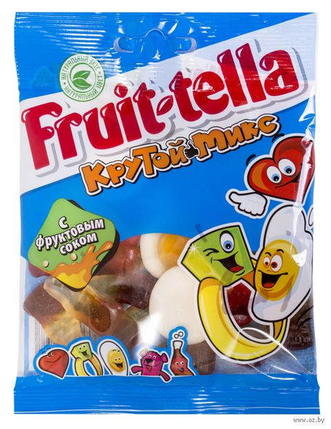 "Мармелад ""Fruittella. Крутой микс"" (70 г) — фото, картинка"