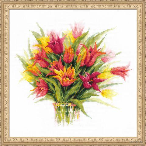 "Вышивка крестом ""Тюльпаны в вазе"" (арт. 1293)"