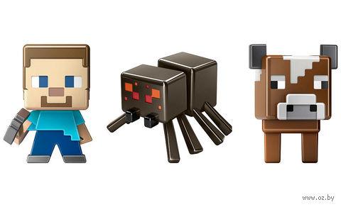 Набор мини-фигурок. Minecraft (Steve, Cow, Spider)
