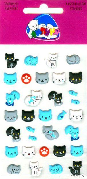 """Наклейки зефирные """"Кошки"""" — фото, картинка"""