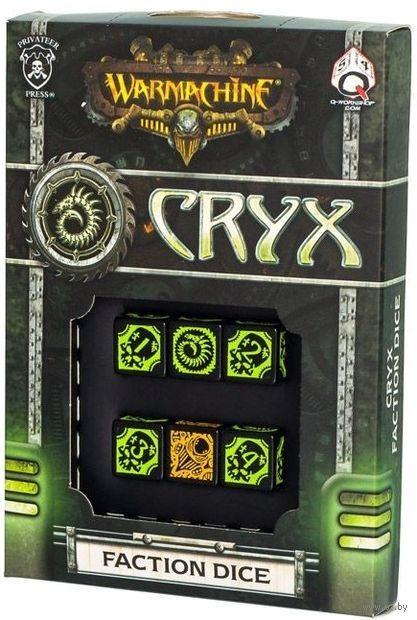 "Набор кубиков ""Warmachine Cryx Faction"" (6 шт.; черно-зеленый) — фото, картинка"