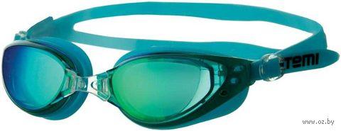 Очки для плавания (голубые; зеркальные; арт. B601M) — фото, картинка