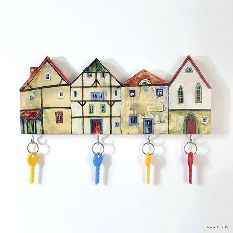 "Ключница ""Домики"" (арт. 001) — фото, картинка"