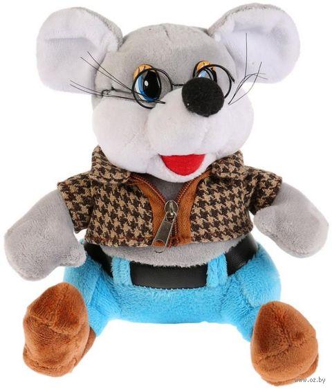"""Мягкая игрушка """"Мышка в очках"""" (17 см) — фото, картинка"""