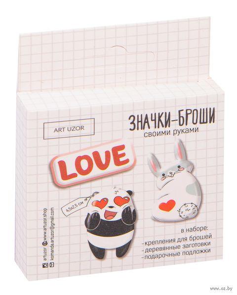 """Набор для изготовления броши """"Love"""" — фото, картинка"""