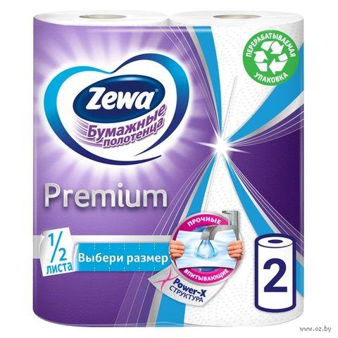 """Бумажные полотенца """"Premium"""" (2 рулона; белые)"""