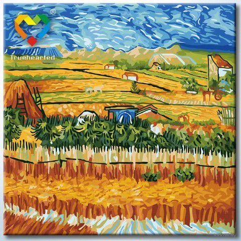 "Картина по номерам ""Пейзаж с голубой повозкой"" (400x400 мм; арт. HB4040019)"