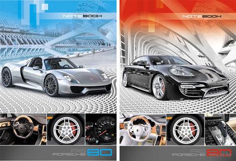 """Блокнот в клетку """"Porsche"""" (А6; в ассортименте)"""