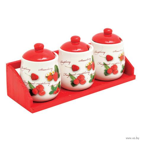 Набор банок для сыпучих продуктов (3 шт.; 350 мл) — фото, картинка