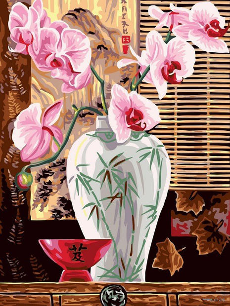 "Картина по номерам ""Розовые орхидеи"" (300х400 мм) — фото, картинка"