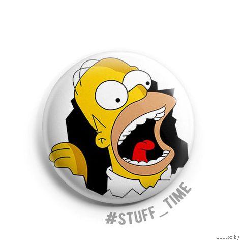 """Значок маленький """"Гомер Симпсон"""" (арт. 497) — фото, картинка"""