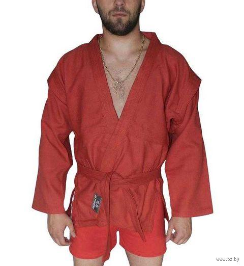 Куртка для самбо AX5 (р. 40; красная; без подкладки) — фото, картинка