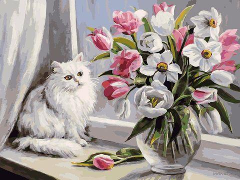 """Картина по номерам """"Весна на окошке"""" (300х400 мм) — фото, картинка"""