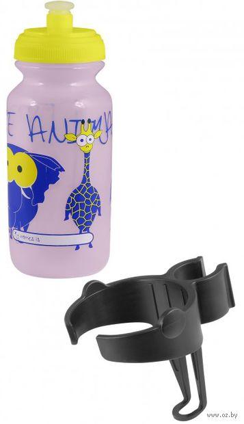 """Бутылка для воды детская """"Zoo"""" (300 мл; розовая) — фото, картинка"""