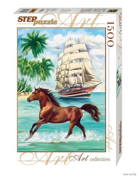 """Пазл """"Лошадь и парусник"""" (1500 элементов) — фото, картинка"""