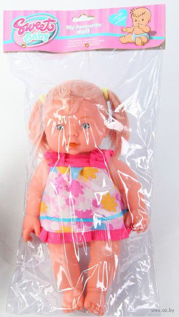 "Кукла ""Девочка с хвостиками"" (28 см)"