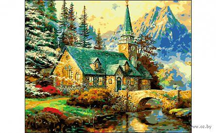 "Картина по номерам ""Усадьба в горах"" (400x500 мм) — фото, картинка"