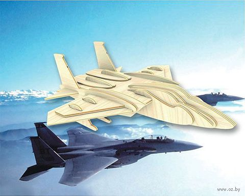 """Сборная деревянная модель """"Самолет F-15"""" — фото, картинка"""