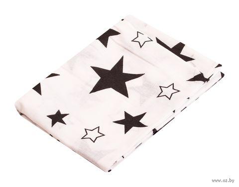 "Наволочка хлопковая ""Stars White"" (70x70 см) — фото, картинка"