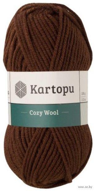"Пряжа ""KARTOPU. Cozy Wool №K890"" (100 г; 110 м; теплый шоколад) — фото, картинка"