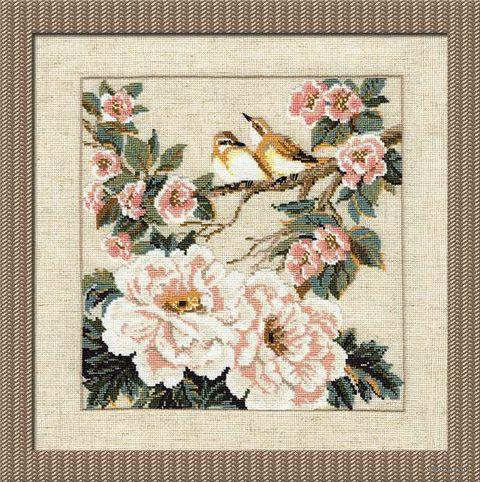 """Вышивка крестом """"Китайские мотивы. Весна"""" (350х350 мм) — фото, картинка"""