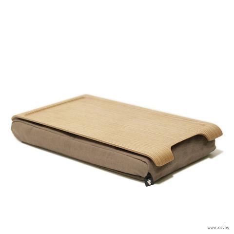 """Подставка с деревянным подносом """"Laptray"""" (дерево, песчаная)"""