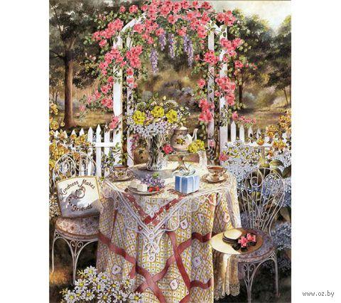 """Канва с нанесенным рисунком """"Завтрак в саду"""""""