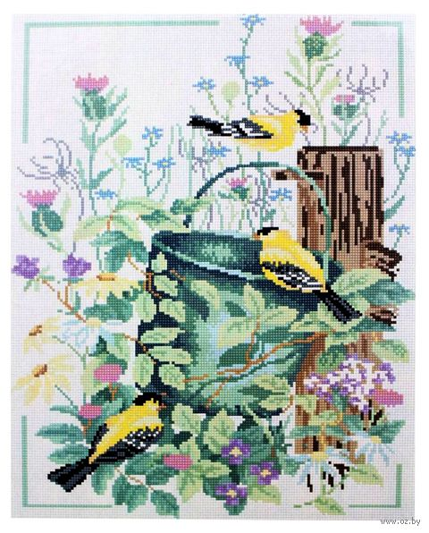 "Алмазная вышивка-мозаика ""Птички"" (400x500 мм) — фото, картинка"
