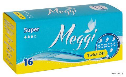 "Тампоны ""Meggi Twist Off Super"" (16 шт.) — фото, картинка"