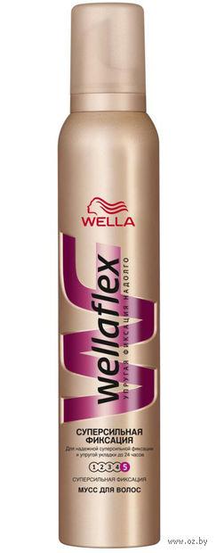 """Мусс для укладки волос """"Wellaflex"""" суперсильной фиксации"""" (200 мл) — фото, картинка"""