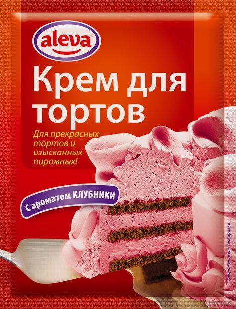"""Крем для торта """"Aleva. Клубничный"""" (65 г) — фото, картинка"""