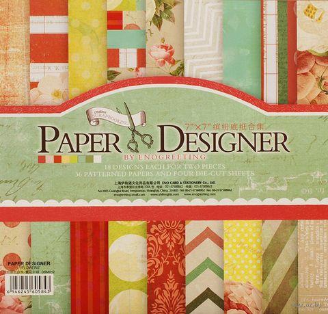 """Набор бумаги для скрапбукинга """"Яркие цветы"""" (175х175 мм) — фото, картинка"""