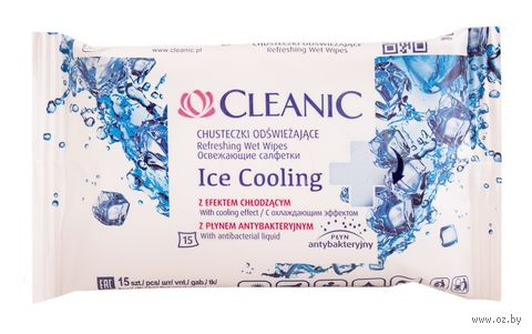 """Влажные салфетки """"ICE Cooling"""" (15 шт.) — фото, картинка"""