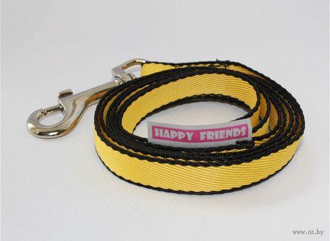 Поводок (2 м; желтый; арт. stm 062P) — фото, картинка