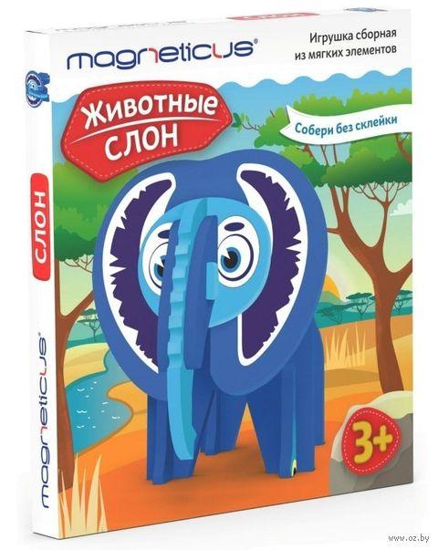 """Мягкий конструктор """"Слон"""" (14 деталей) — фото, картинка"""
