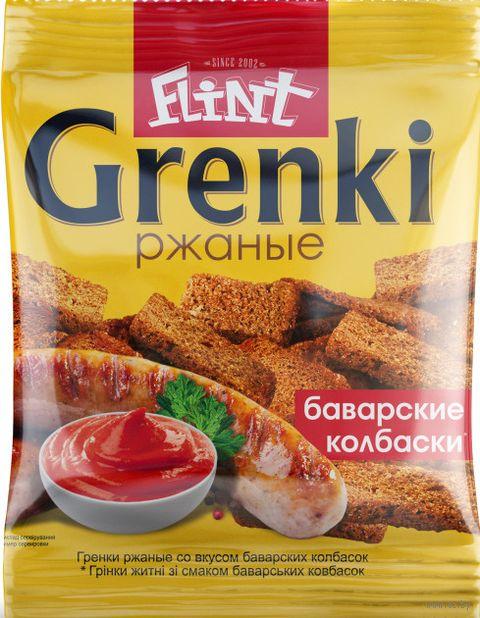 """Гренки ржаные """"Flint. Баварские колбаски"""" (70 г) — фото, картинка"""